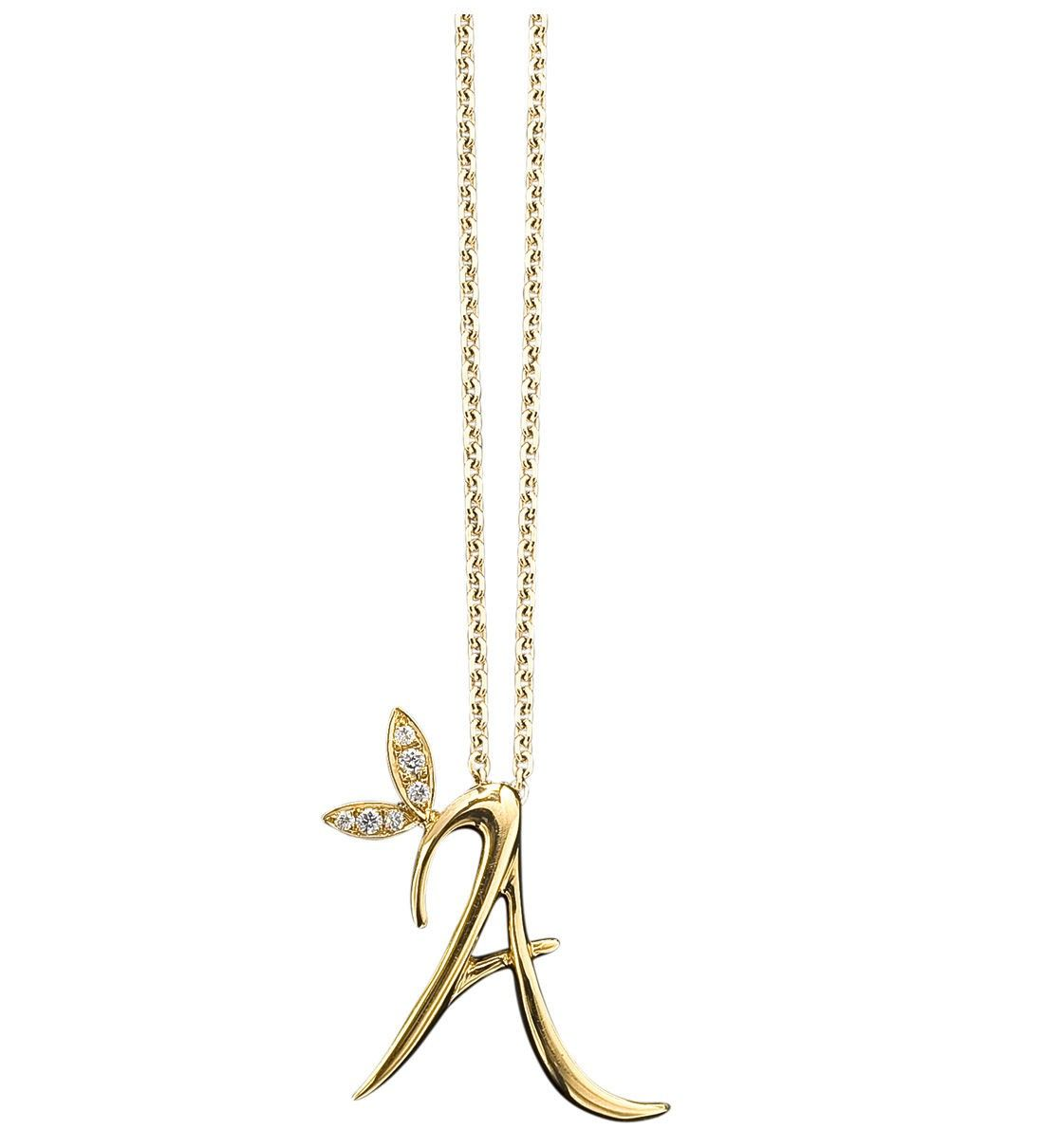 love letter yellow gold pendant in 18ct yellow gold