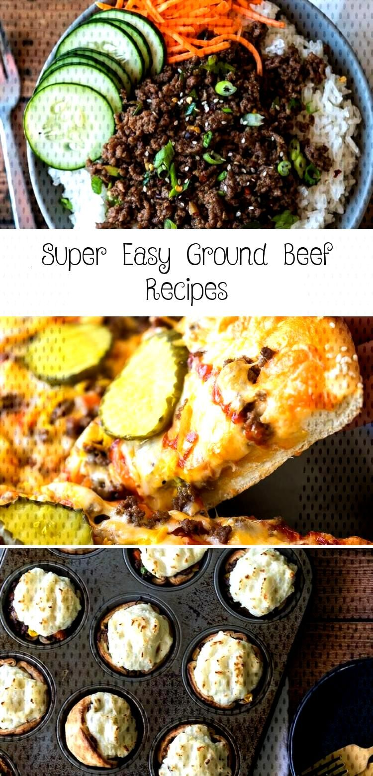 These Super Easy Ground Beef Recipes are made with few ingredients and packed full of flavor with e