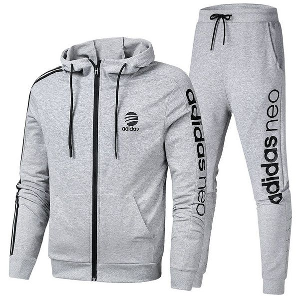Spring Summer 2018 Cheap Adidas Long Sleeve Suit On Aliexpress Grey ... 77affe4b05d