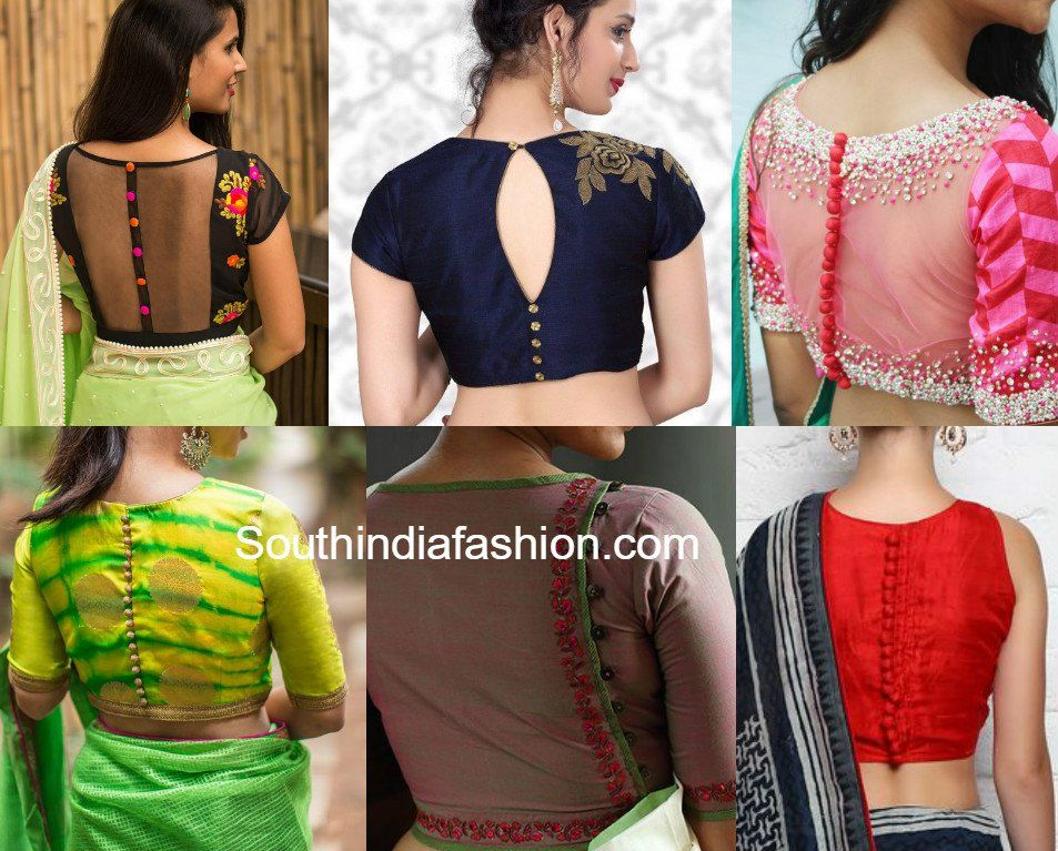Top 8 Most Trending Blouse Back Neck Designs For 2017 South India Fashion Blouse Designs High Neck Blouse Neck Designs Blouse Design 2017