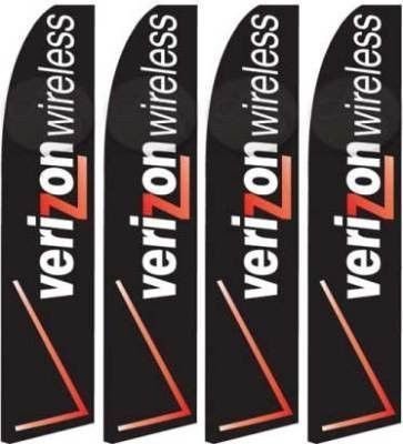 Verizon Four (4) Swooper Feather Banner Flag Signs