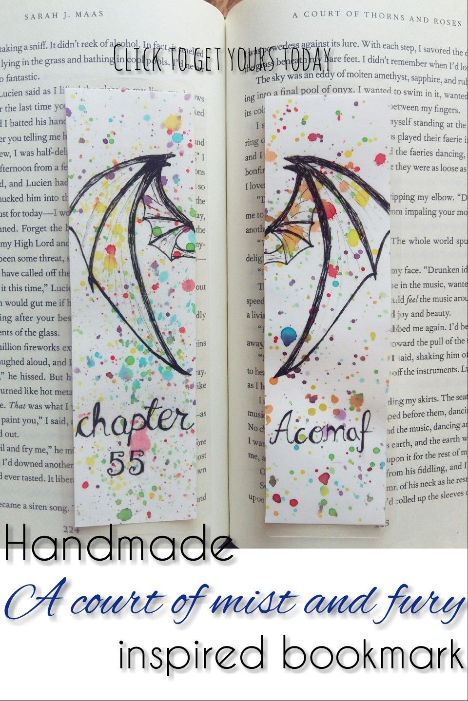 Acomaf Chapter 55 Fandom Bookmarks With Non Painted Bat Wings