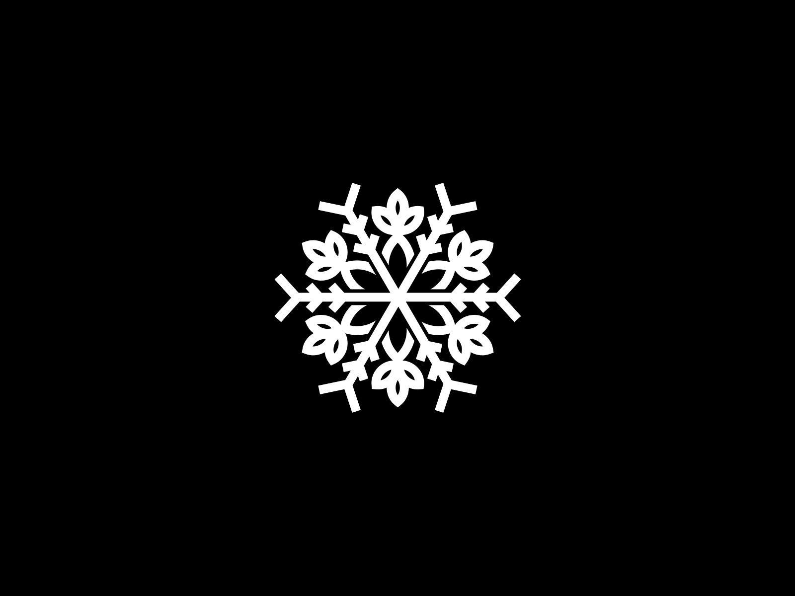 Neat Snow Logo Snowflake Flower Flower Symbol Cool Logo Elegant Snowflake