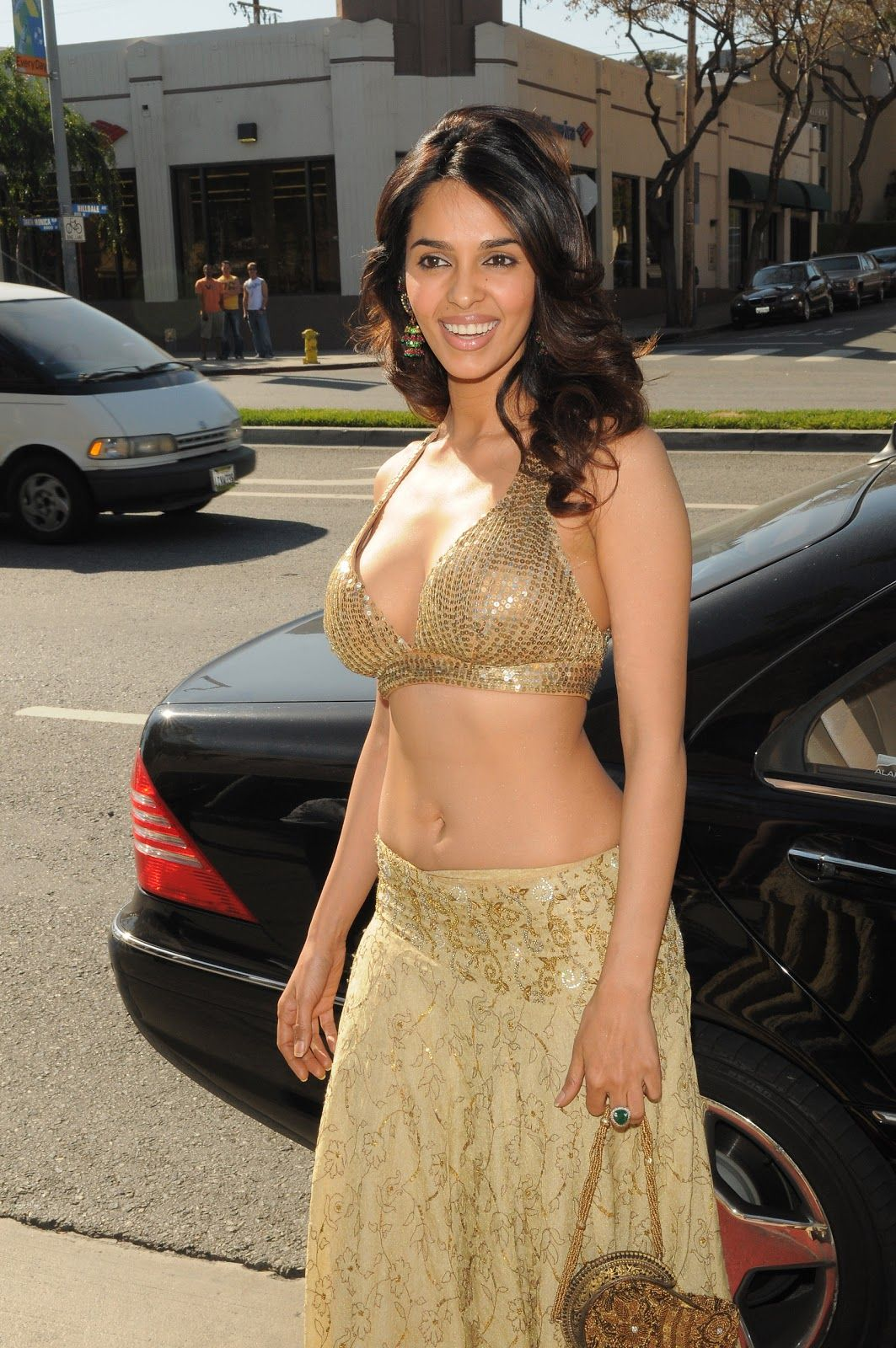 bollywood actress mallika sherawat hot cleavage and navel show pics