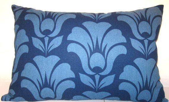 Richloom blue/ blue pillow cover  14 X 20