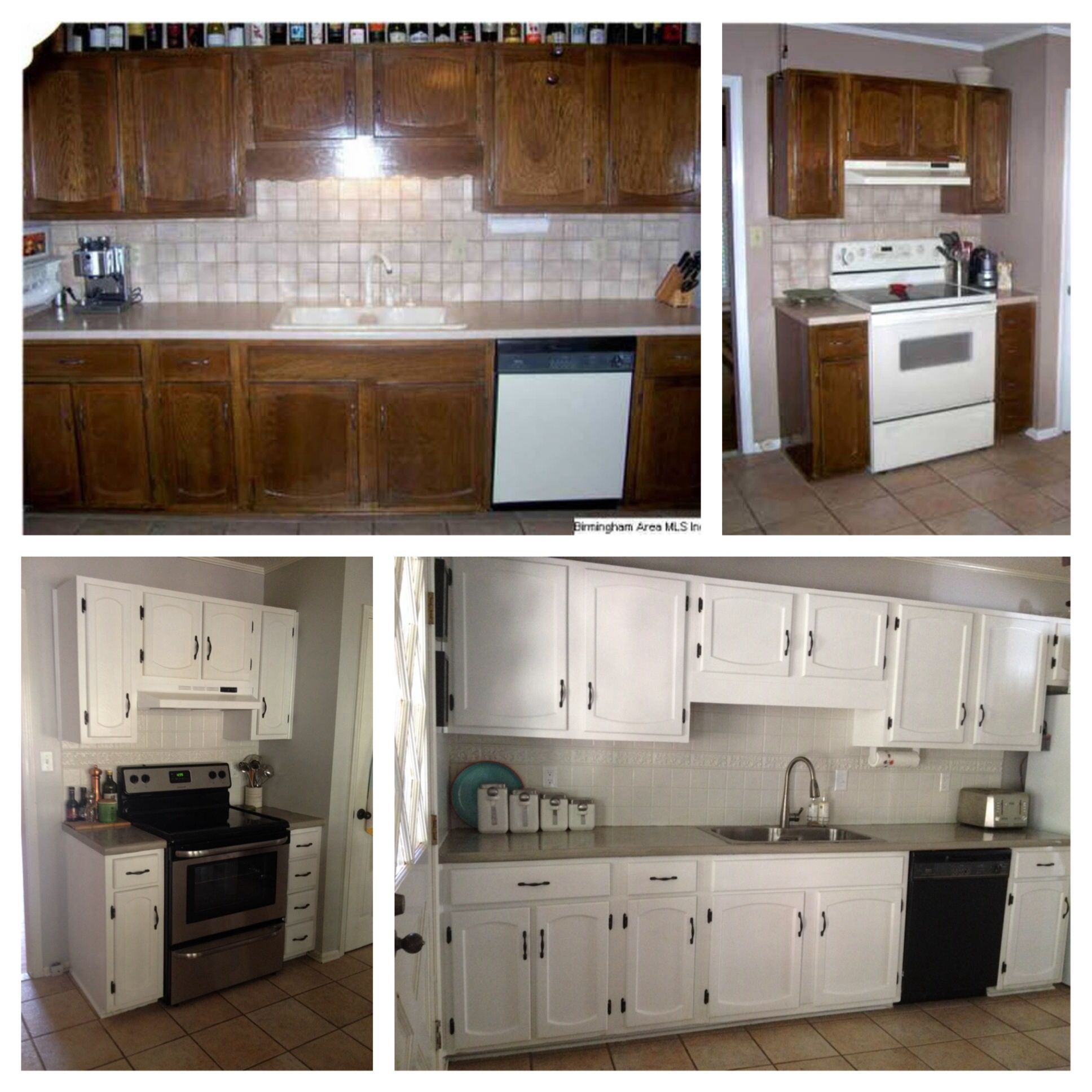 Replacing Kitchen Cabinets On A Budget: DIY Kitchen Reno On A Budget: (1) Paint Cabinets