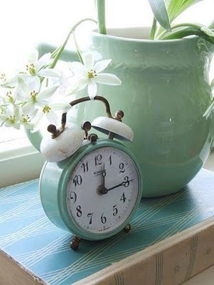 Alarm Clock Mint Green Aesthetic Mint Aesthetic Retro Clock