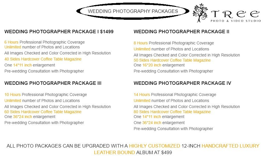 Affordable Wedding Photography Videography Packages And Prices Melbourne Tree Studio In 2020 Wedding Photography Affordable Wedding Photography Photography Packaging