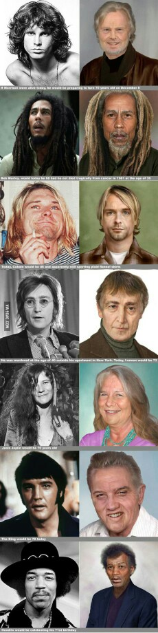 Rock legends if they were alive today. A little crazy looking lol