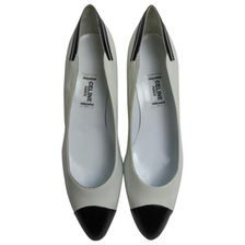 CÉLINE White Leather Heels
