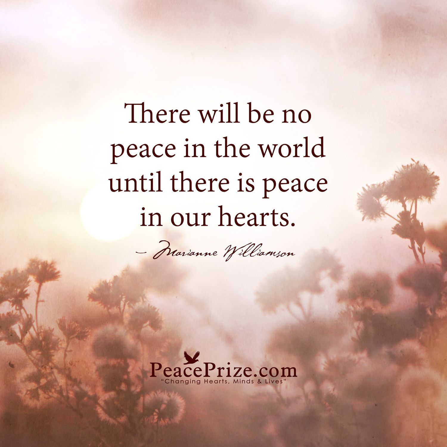 Peace For The World By Marianne Williamson World Quotes World Peace Peace