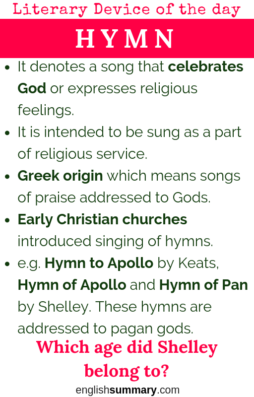 Hymn Meaning Features And Examples In English Literature Literary