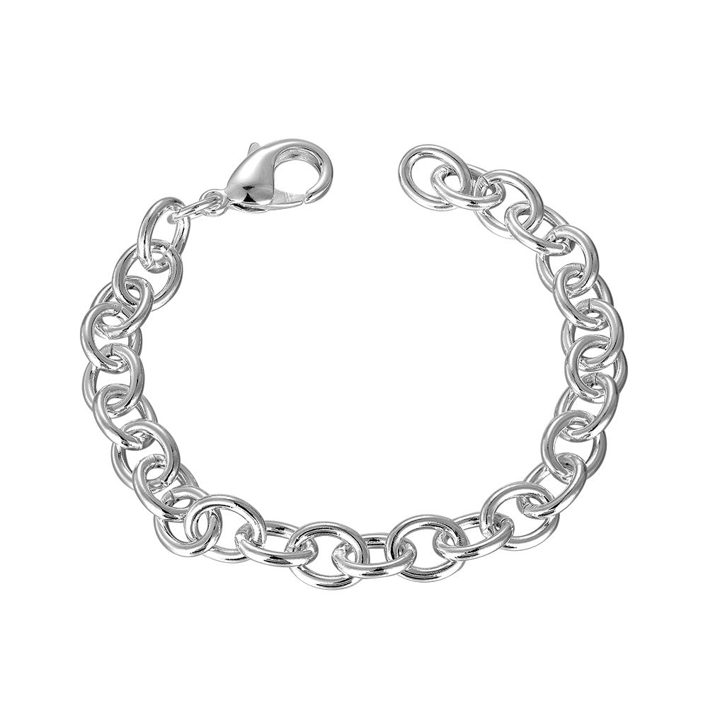 Fashion women bracelet jewelry silver plated bracelets link