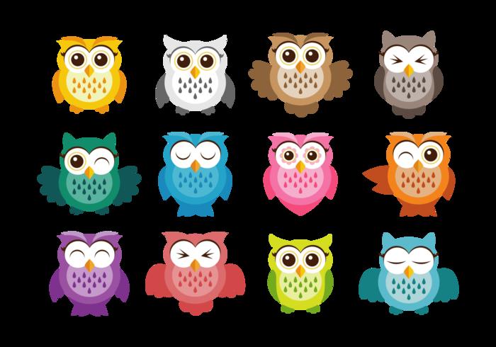 Cute Owl Vector Icons Owl Vector Cute Owl Free Vector Art