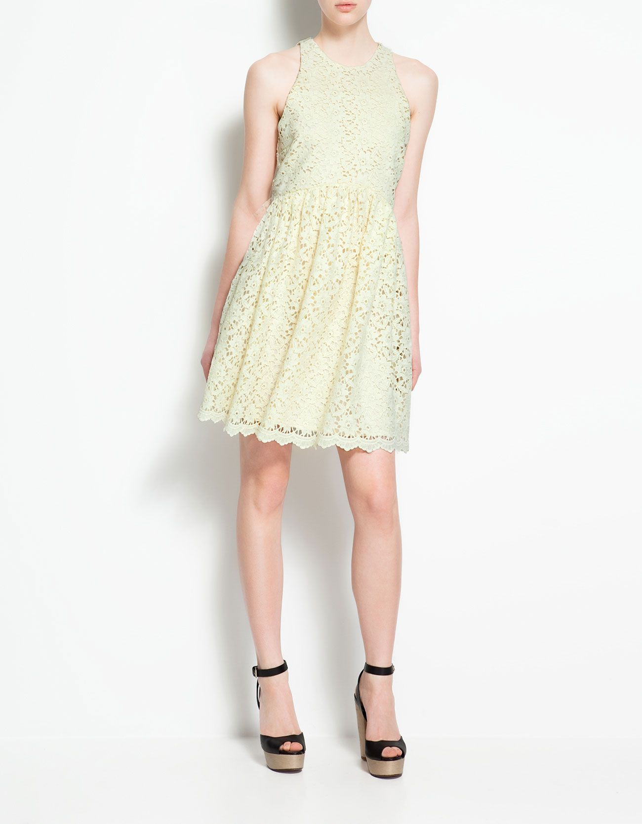 So in love zara 9900 clothes pinterest lace dress zara guipure lace dress in soft yellow ombrellifo Choice Image
