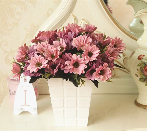 10PCS/ The small chrysanthemum flower simulation silk Home ...