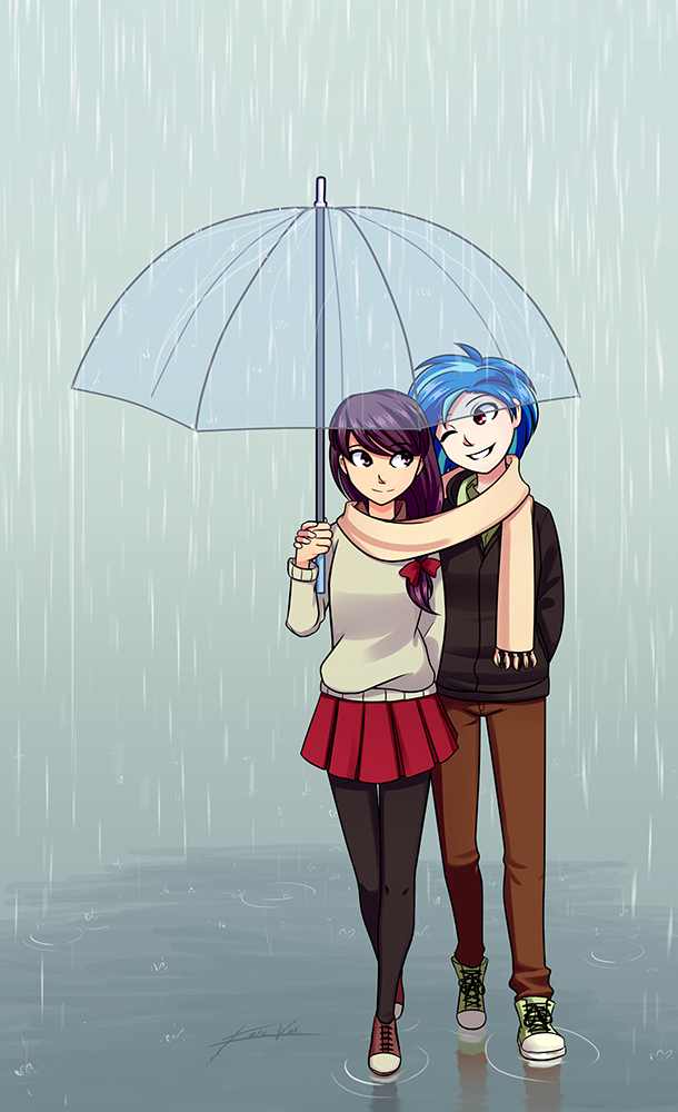 Commission: Under the rain by Kare-Valgon on DeviantArt