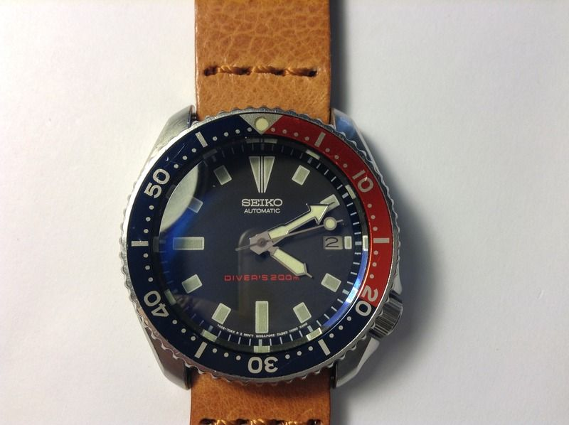 6994ae3f2bc74 Seiko 7002-7039 Mens Diver Excellent condition 42mm steel case Dark blue  dial Pepsi bezel Thick domed sapphire crystal Automatic movement serviced  New