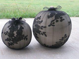 Beau Fleurs: Adventures in Crafting: DIY Last Minute Elegant Halloween Pumpkin Decorations