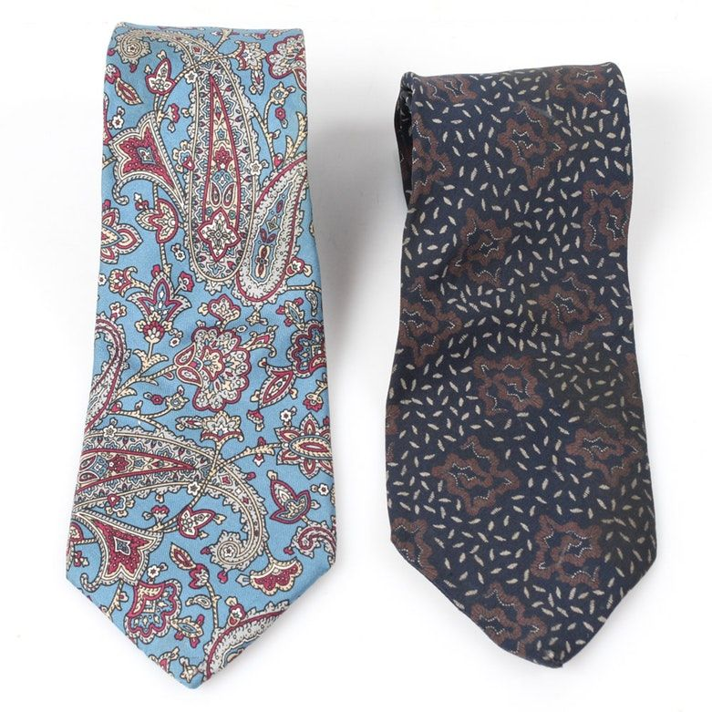 a05569e50 Vintage Silk Valentino and Christian Dior Neckties | Pinterest ...