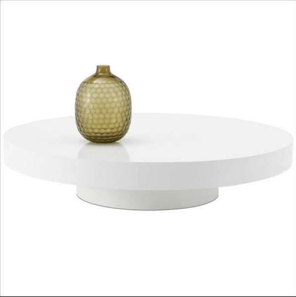 Low White Round Coffee Table, White Round Coffee Tables