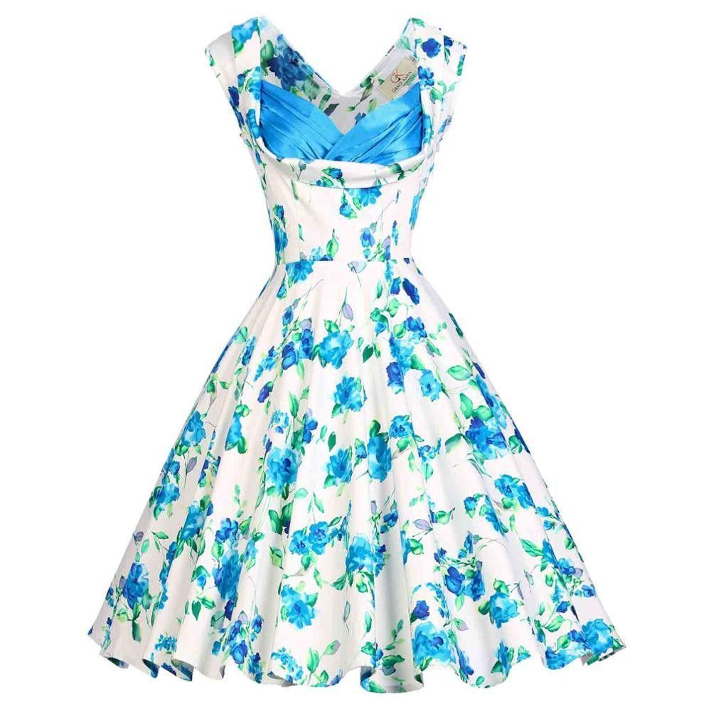 Fashion summer dress s s vintage dresses women retro casual