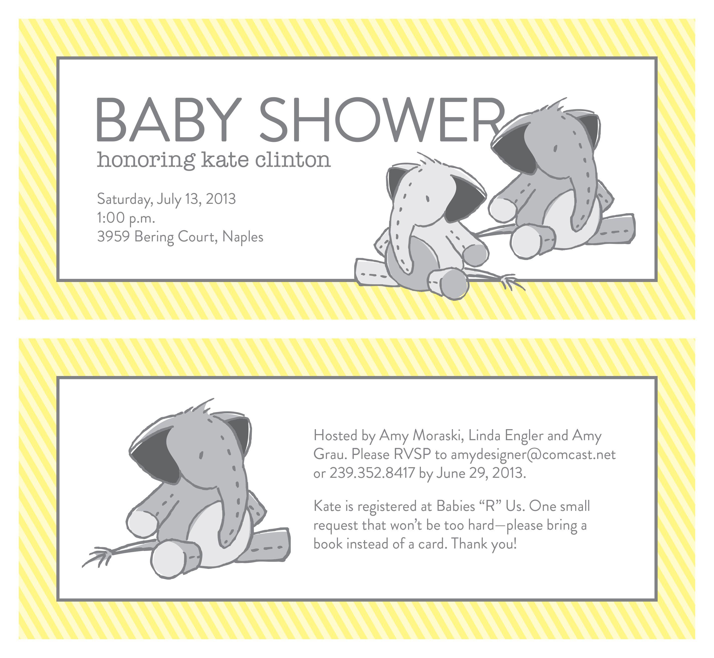 Baby Shower Invitation #amygraudesign #babyshower