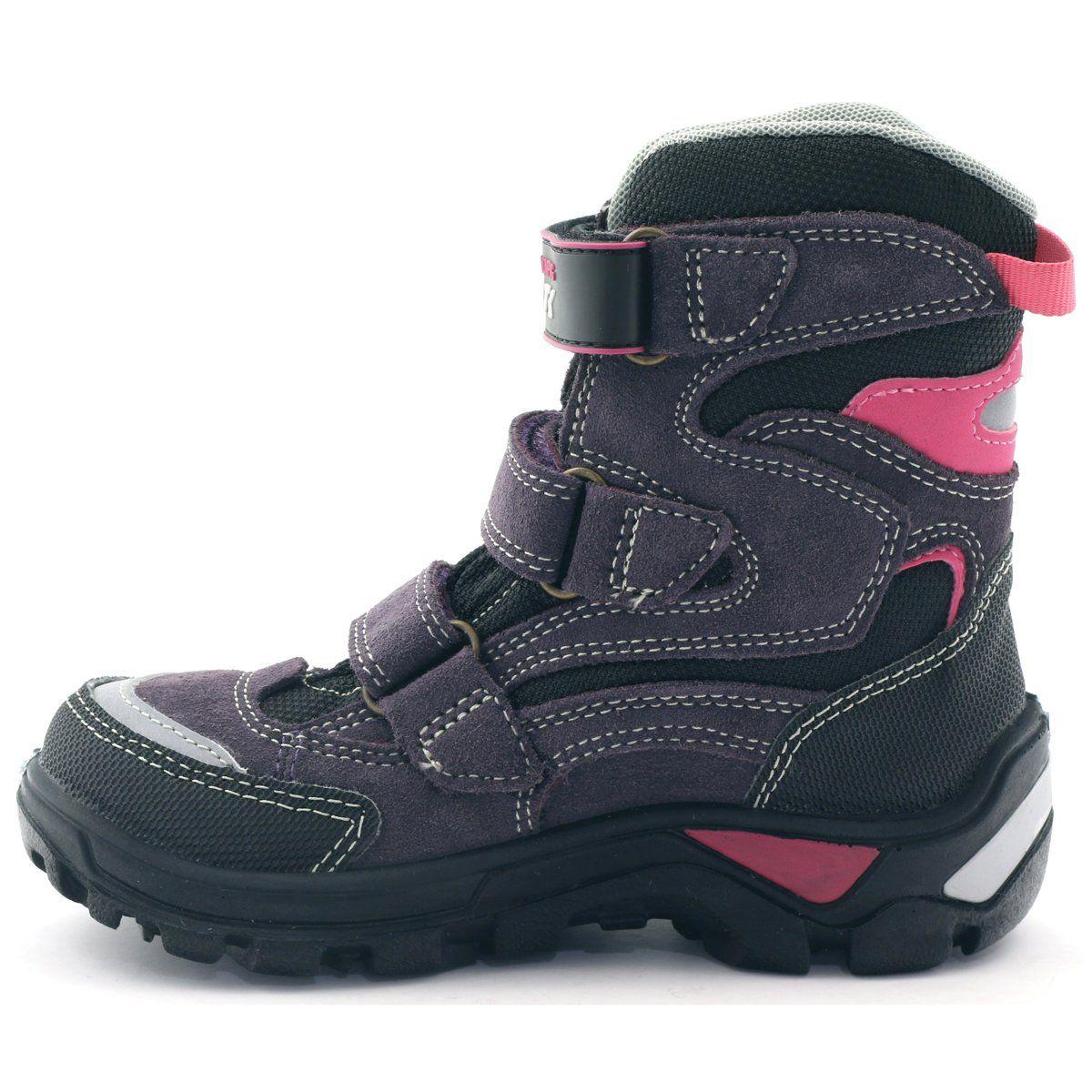 Trzewiki Dziewczece Z Membrana Bartek 94672 Czarne Fioletowe Rozowe Winter Boot Shoes Boots