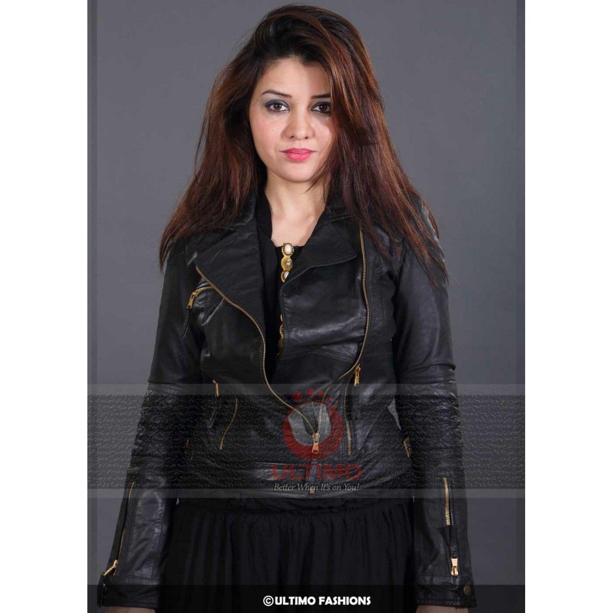 Eclipse Zara Black Leather Jacket For Women Leather