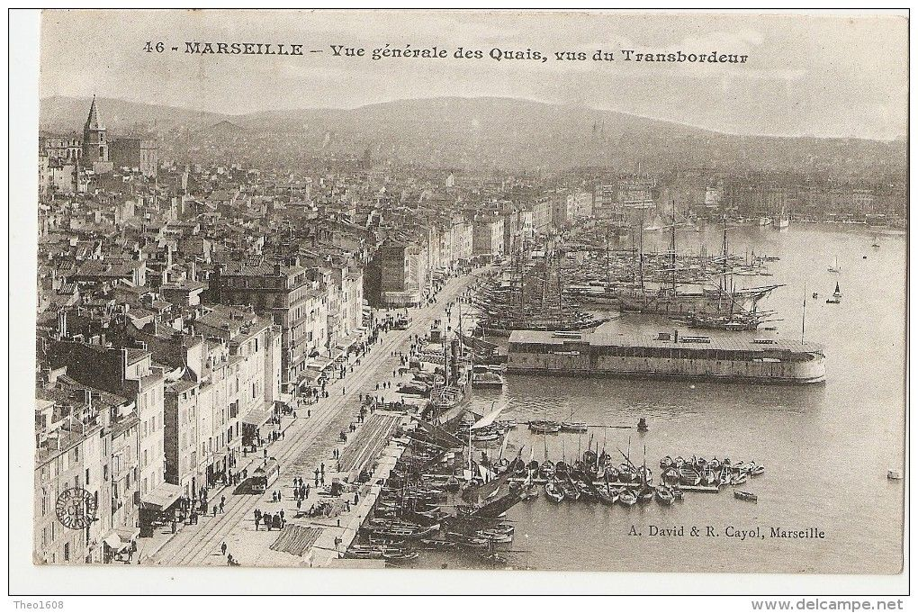 13 Marseille  Vue G U00e9n U00e9rale Des Quais Vus Du Pont