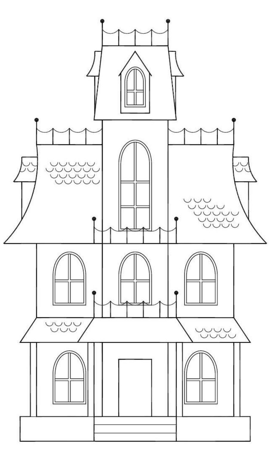 Haunted House Sketch on Cake Central | Halloween | Pinterest | House ...