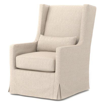Four Hands Swivel Wingback Chair Hayneedle With Images