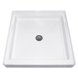 American Standard - Square Acrylic Alcove Shower Base