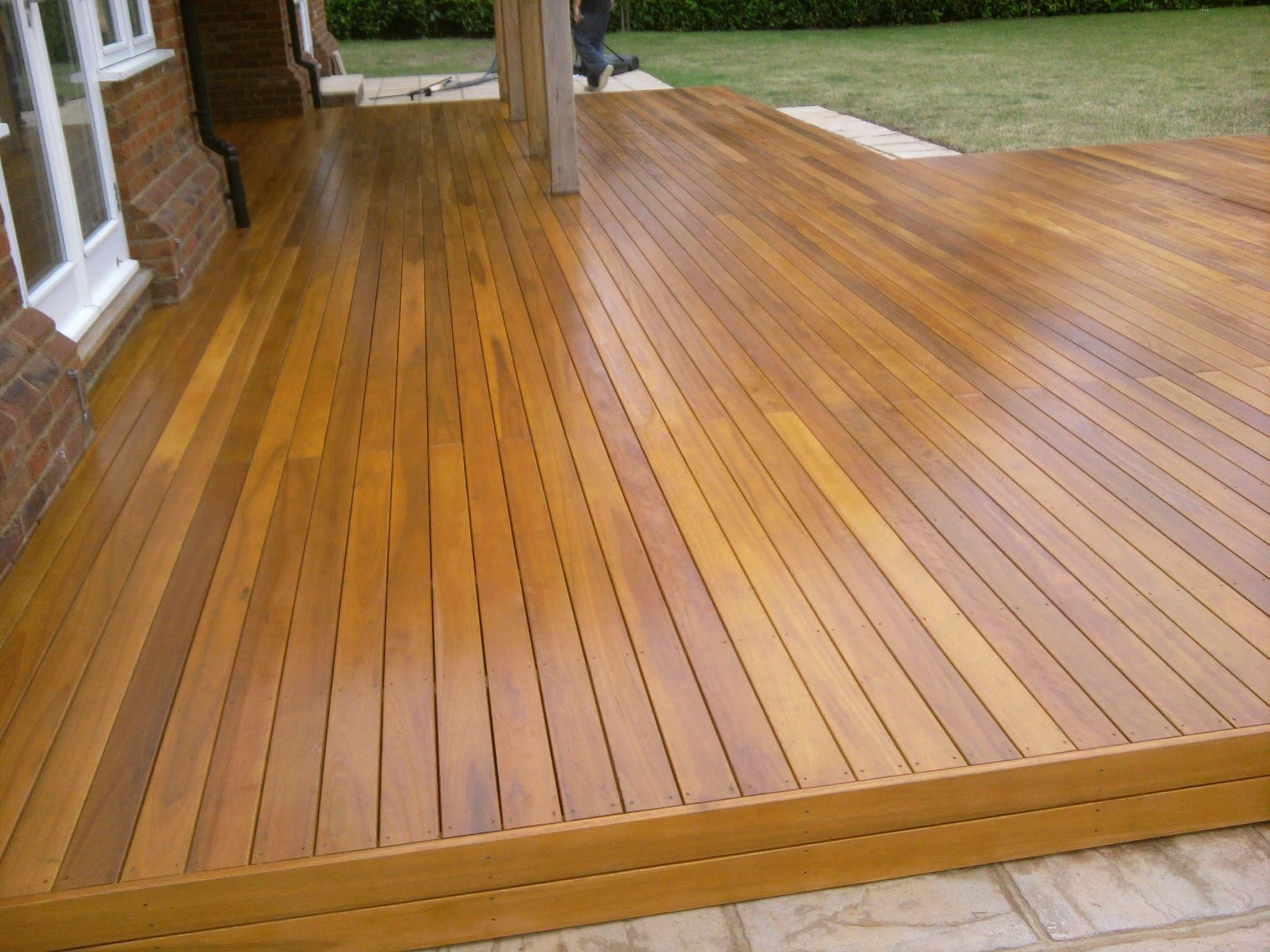 Freshly oiled eucalyptus wood deck hawaii local sourced freshly oiled eucalyptus wood deck baanklon Image collections