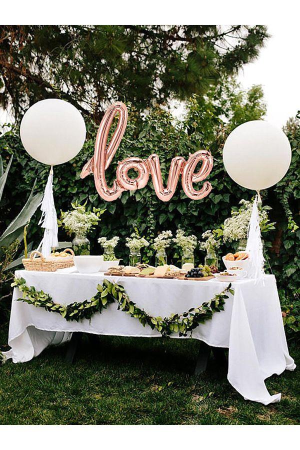 Bridal Shower Dekor - Rose Gold Love Balloon - Rose Gold Ballons - Verlobungsfeier Dekor - Bridal Shower Ideen - Valentinstag - Hochzeitsdekoration ...