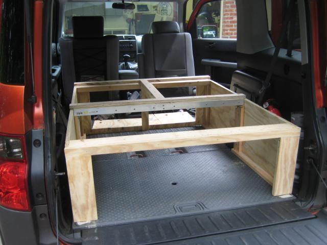 Sleeping Platform And Camping Storage Honda Element