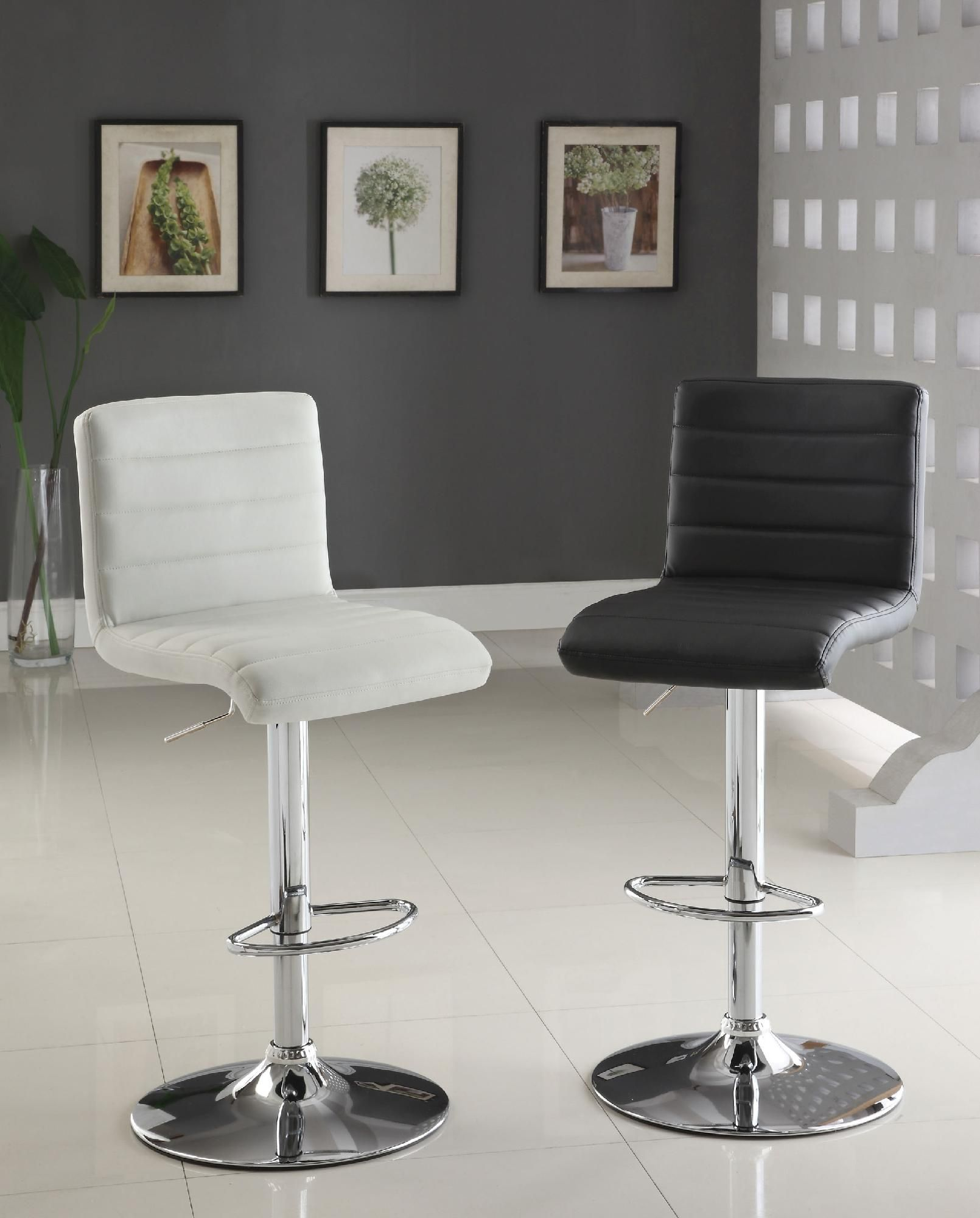 furniture black and white upholstered swivel chair with pneumatic