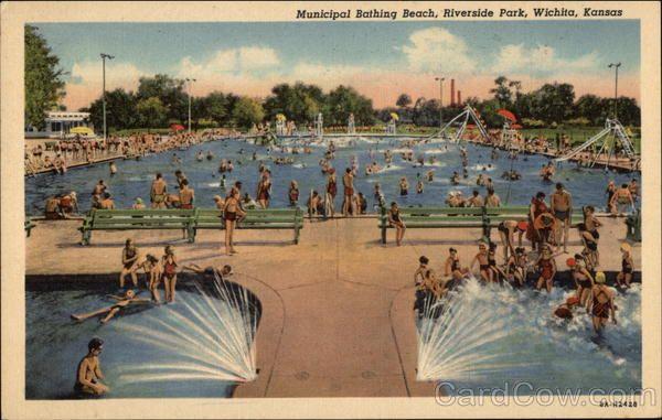 Municipal Bathing Beach Riverside Park Wichita Ks Riverside