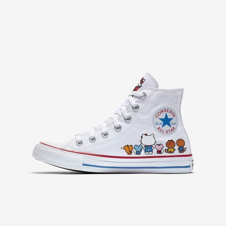 824cf27a9b4a36 Converse x Hello Kitty Chuck Taylor All Star Canvas High Top Unisex Shoe  Hello Kitty Bow