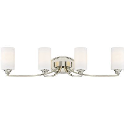 Latitude Run Edgebrooke 4 Light Vanity Light Vanity Light Bar Vanity Lighting Minka Lavery