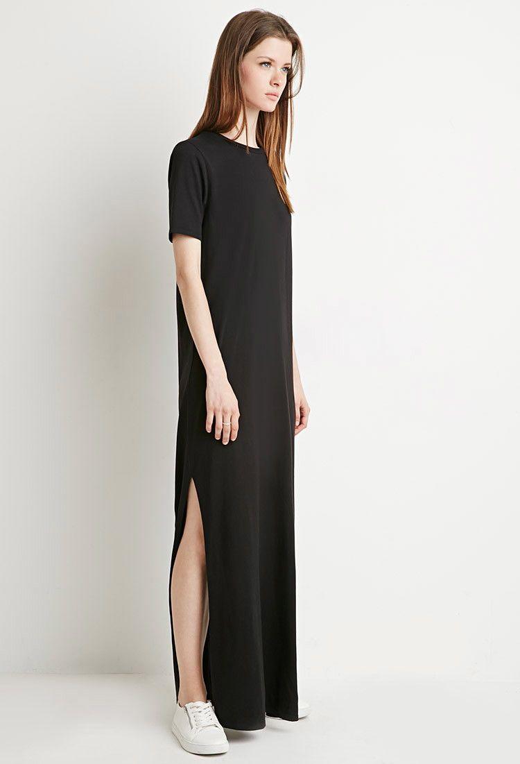 c134c6eddc3 Side-Slit T-Shirt Maxi Dress