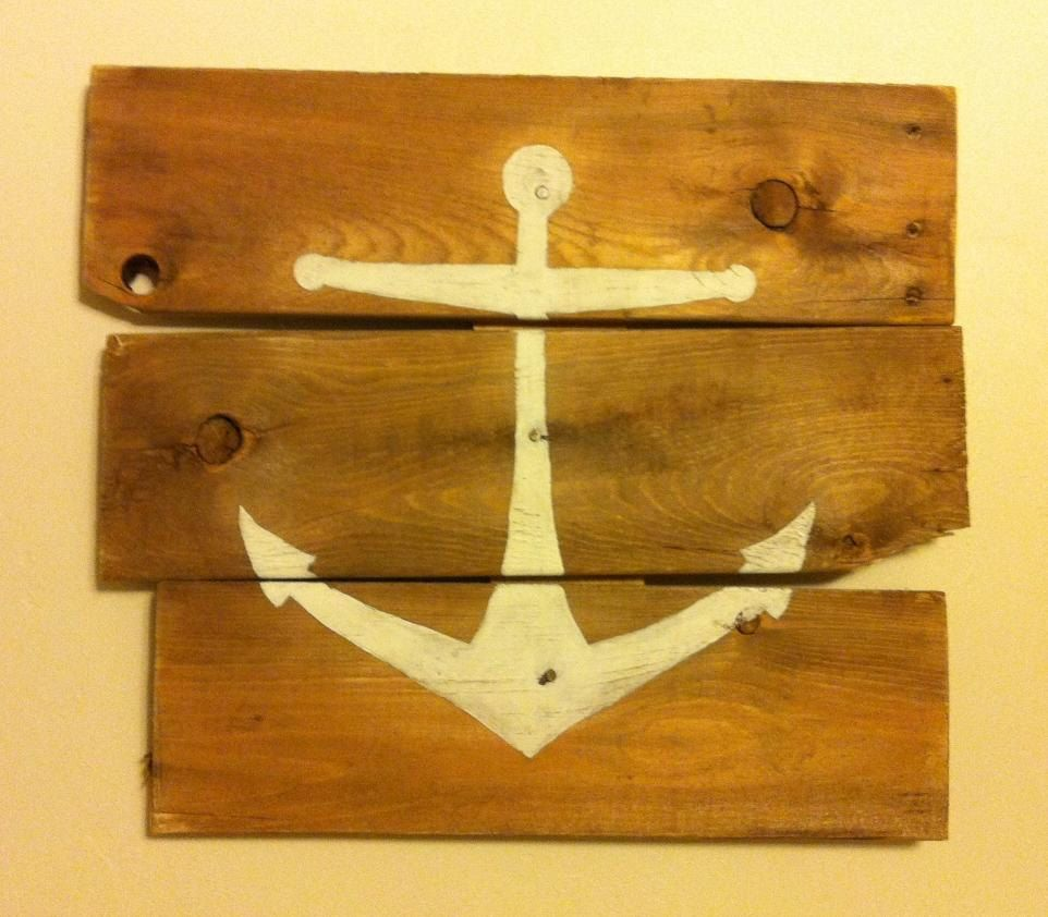 Part of collage wall. Nautical Anchor Wall art. $50.00, via Etsy ...