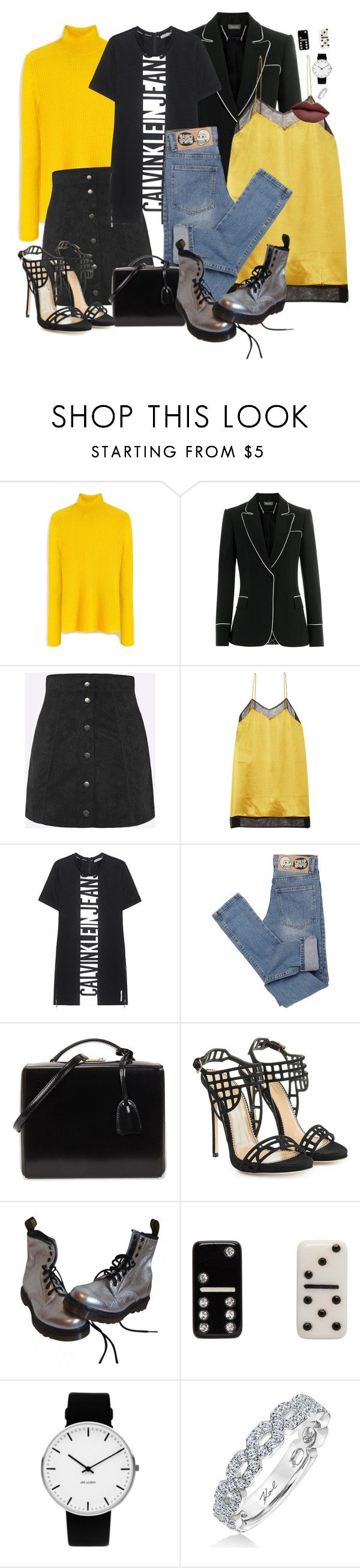 """""""Three Day Weekend"""" by chelsofly ❤ liked on Polyvore featuring Mulberry, Alexander McQueen, Gucci, Calvin Klein Jeans, Cheap Monday, Mark Cross, Dsquared2, Dr. Martens, Marc Jacobs and Rosendahl"""