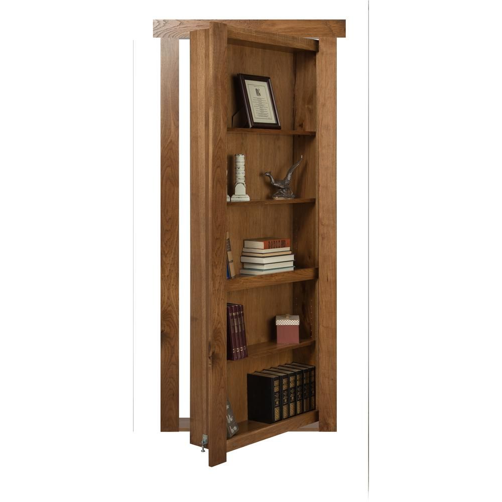 The Murphy Door 28 In X 80 In Assembled Medium Stained Hickory