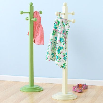 kids miniature pastel coat stand clothes tree antique white 11