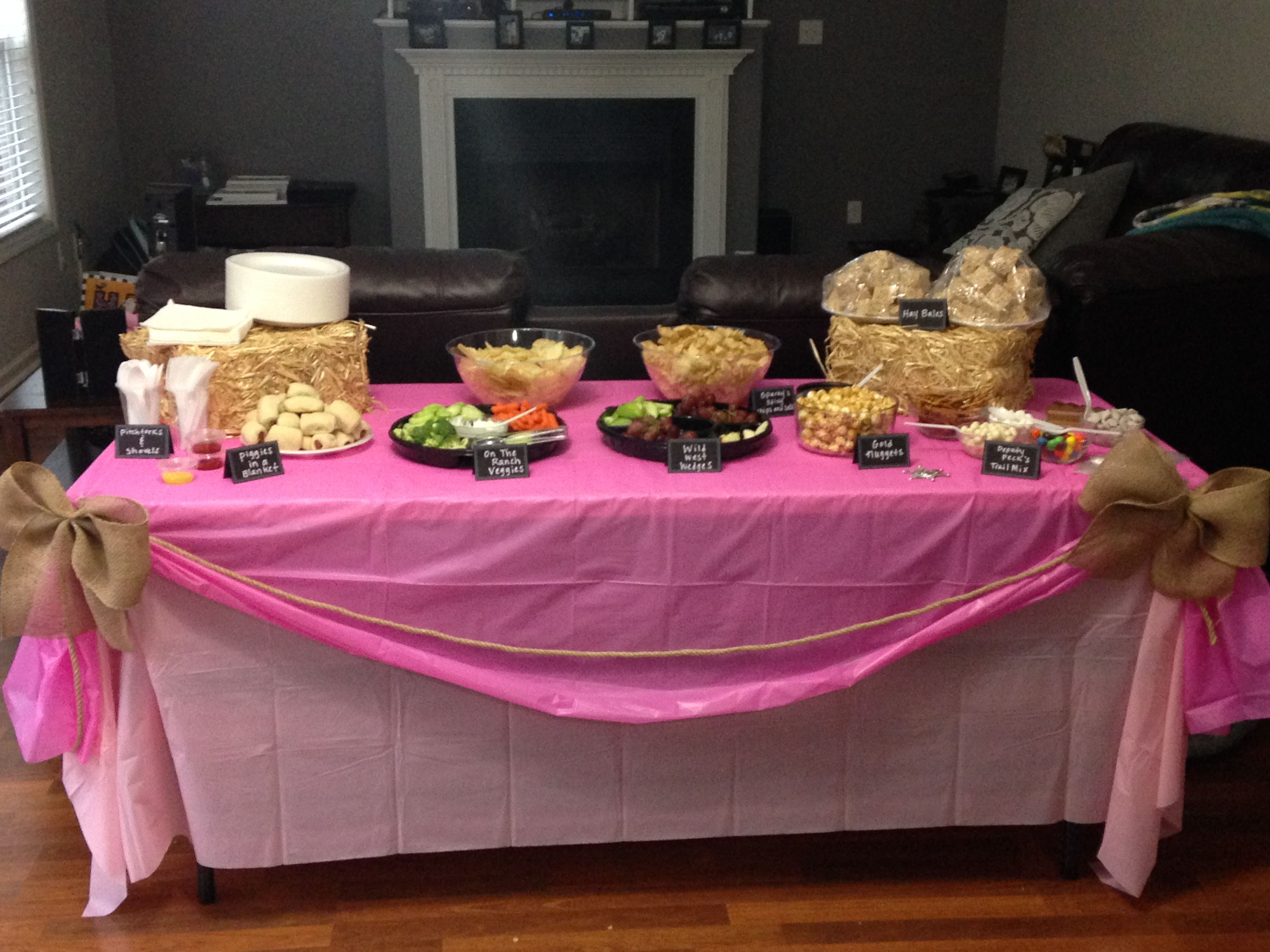 Table Setup Sheriff Callie Party Party Food Alivias 3rd