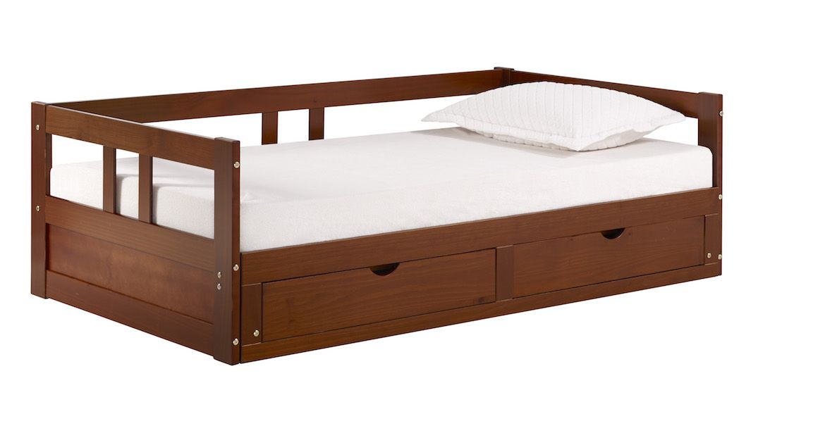 The Melody Day Bed W Storage Maximizes The Area In A Small Room It Is A Classic Twin With Under Bed Stora Daybed With Trundle Daybed With Storage Bed Storage