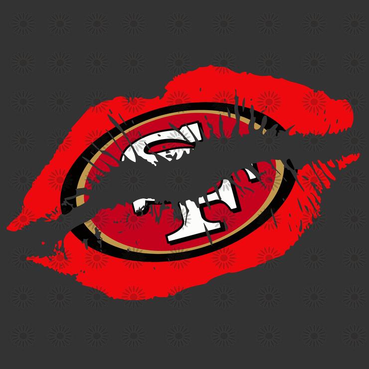 San Francisco 49ers Lips San Francisco 49ers Logo San Francisco 49ers Svg San Francisco 49ers Png San Francisco 49ers Design Eps Dxf Svg File In 2020 San Francisco 49ers Logo Svg