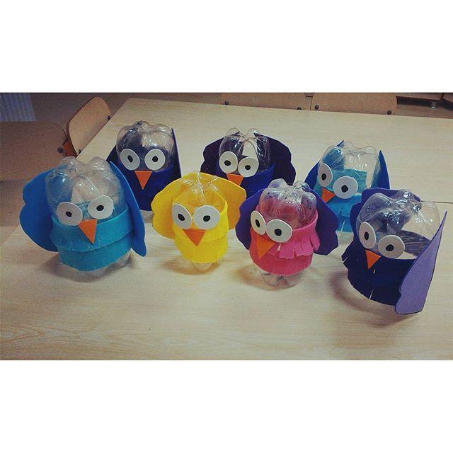 bottle owl craft