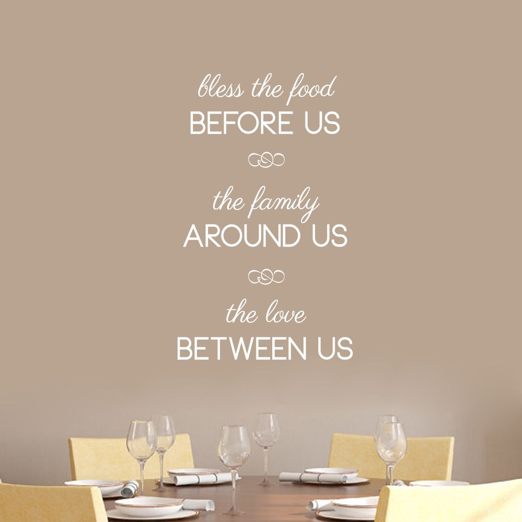 Sweetums Bless The Food Before Us Wall Decals - 22\